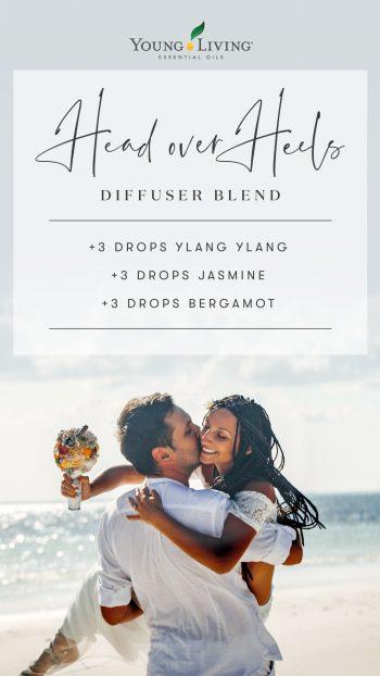 3 drops Ylang Ylang 3 drops Jasmine 3 drops Bergamot