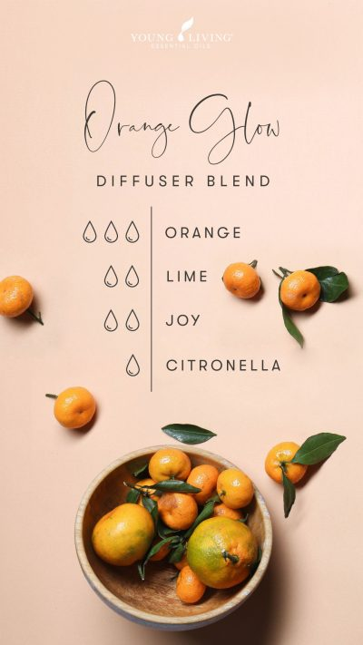 3 drops Orange 2 drops Lime 2 drops Joy 1 drop Citronella