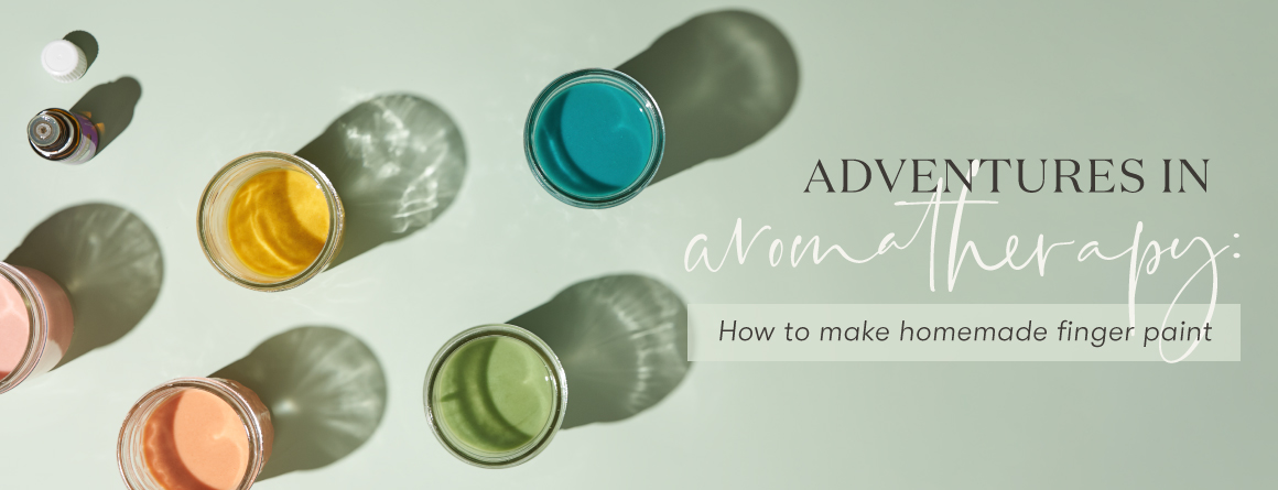 aromatherapy how to make homemade finger paints
