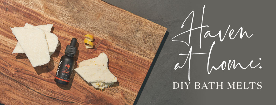 DIY bath melts with wooded board