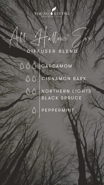 3 drops Cardamom 2 drops Cinnamon Bark 2 drops Northern Lights Black Spruce 1 drop Peppermint