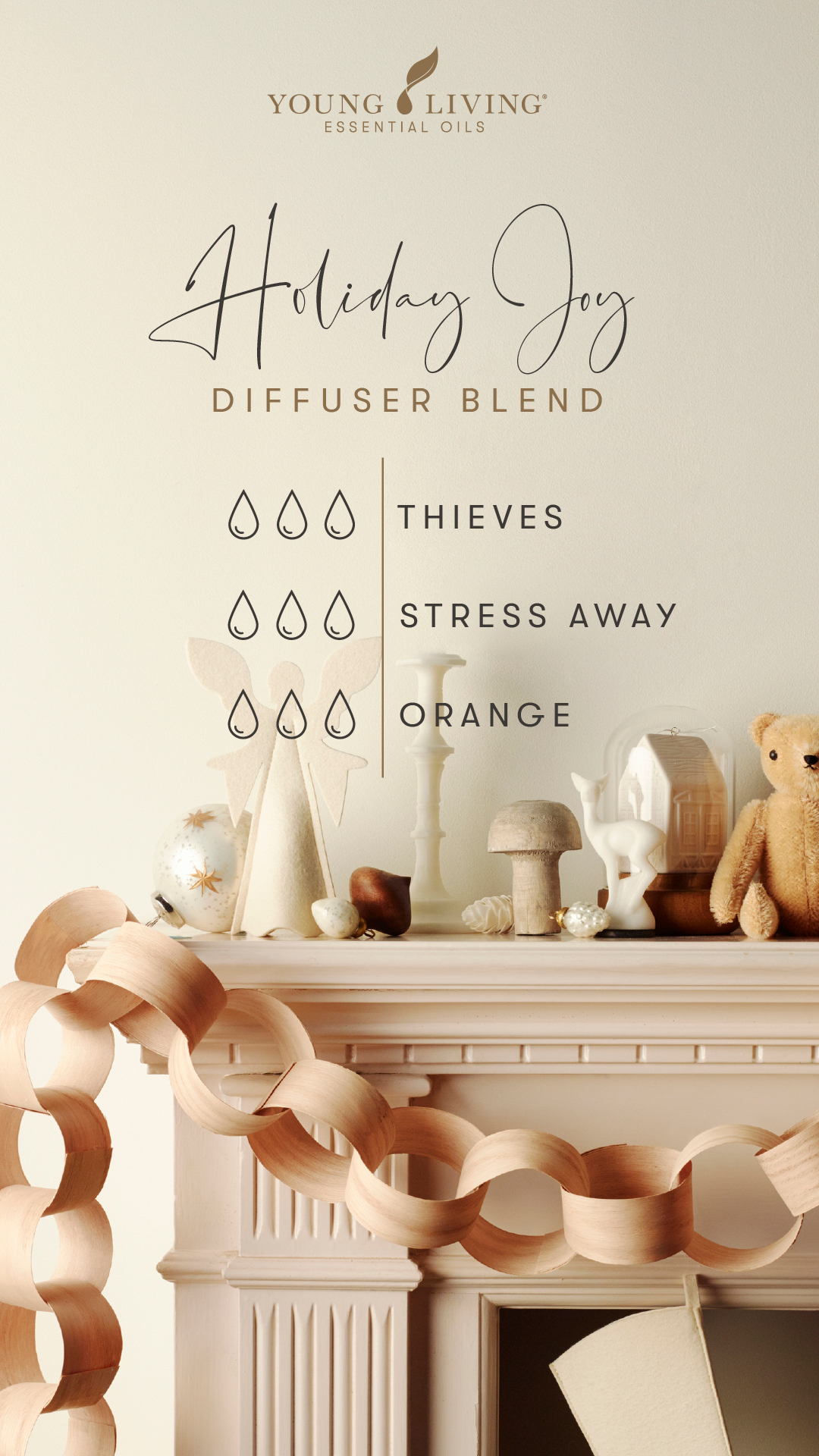Young Living Holiday Joy essential oil diffuser blend
