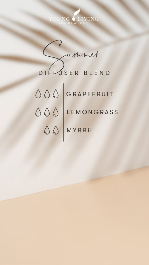 3 drops Grapefruit 3 drops Lemongrass 2 drops Myrrh