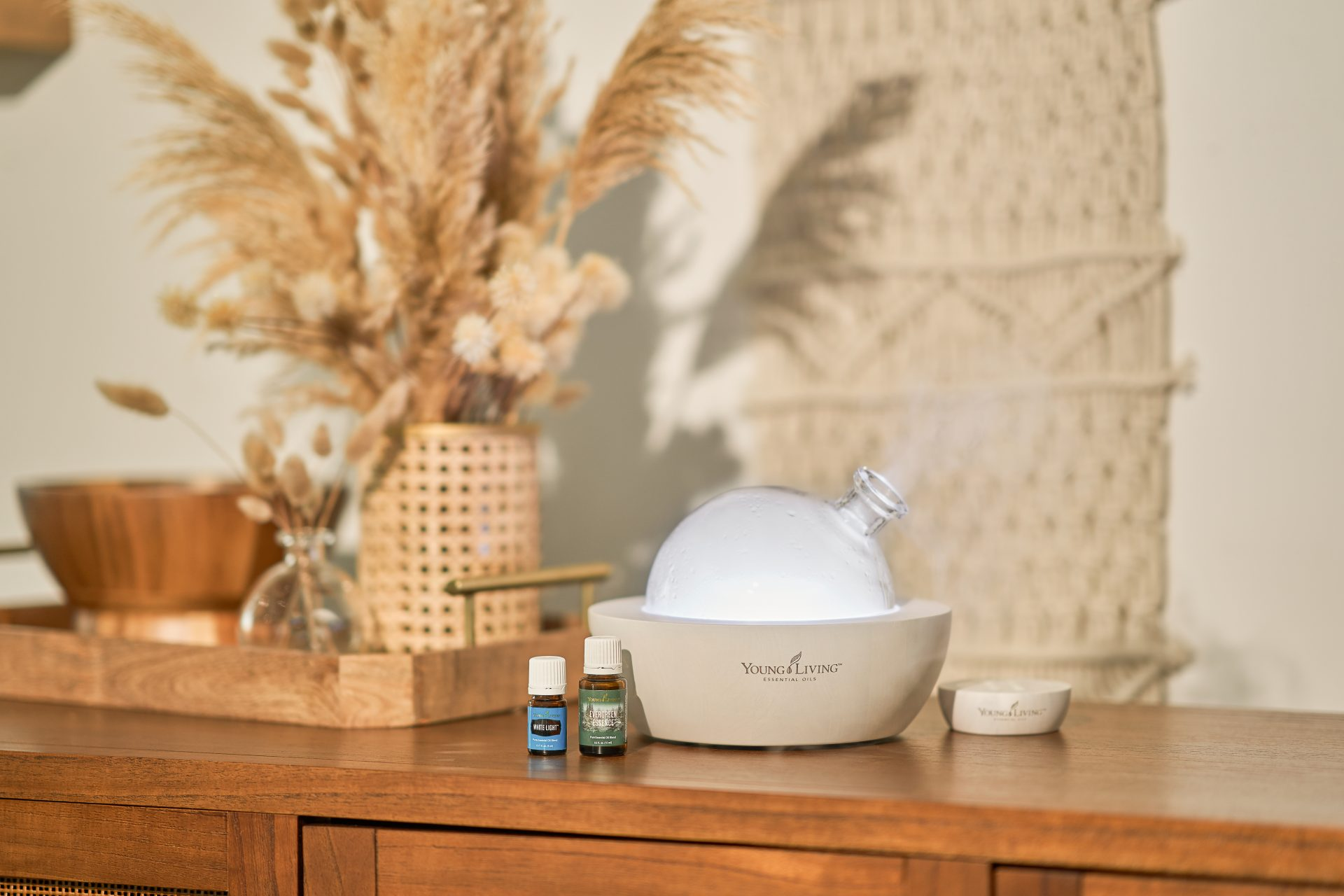 Young Living Essential oils and diffuser