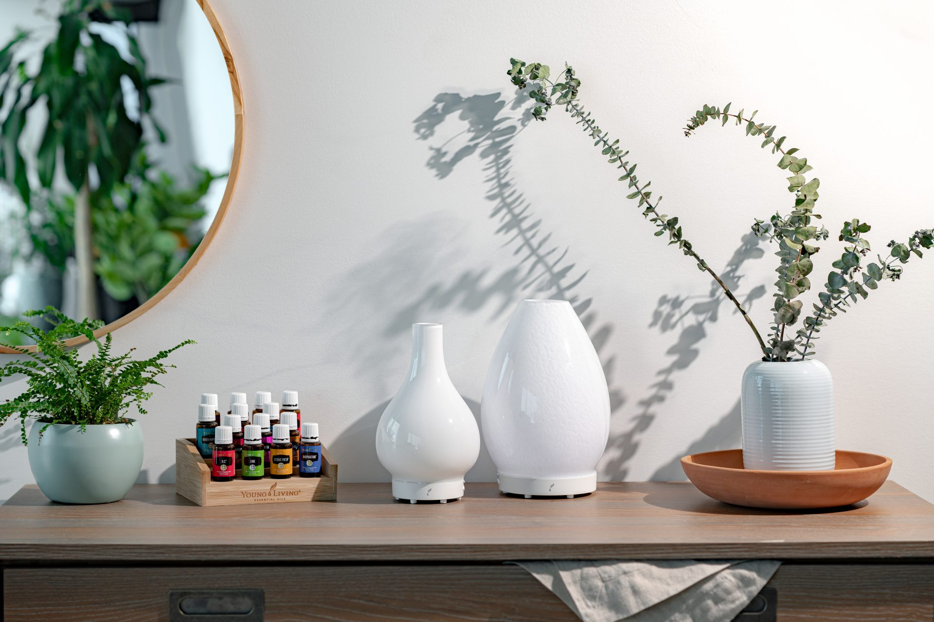 Young Living Essential oils Lustre and Lucia diffusers