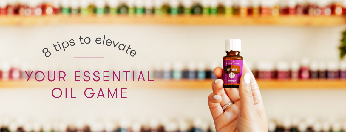 Young Living Essential Oils on shelves