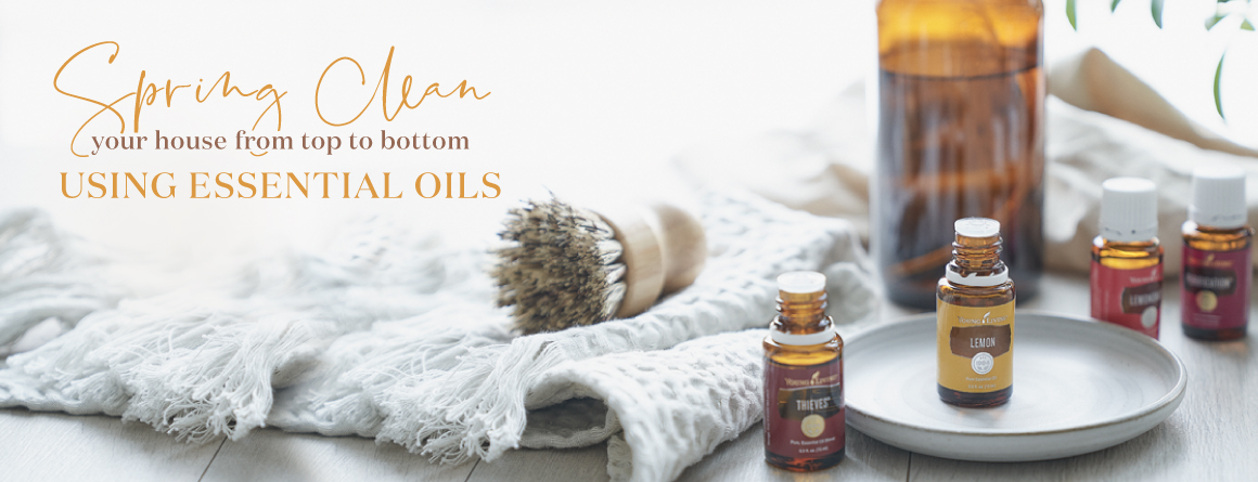 Spring clean you house from top to bottom using young living essential oils