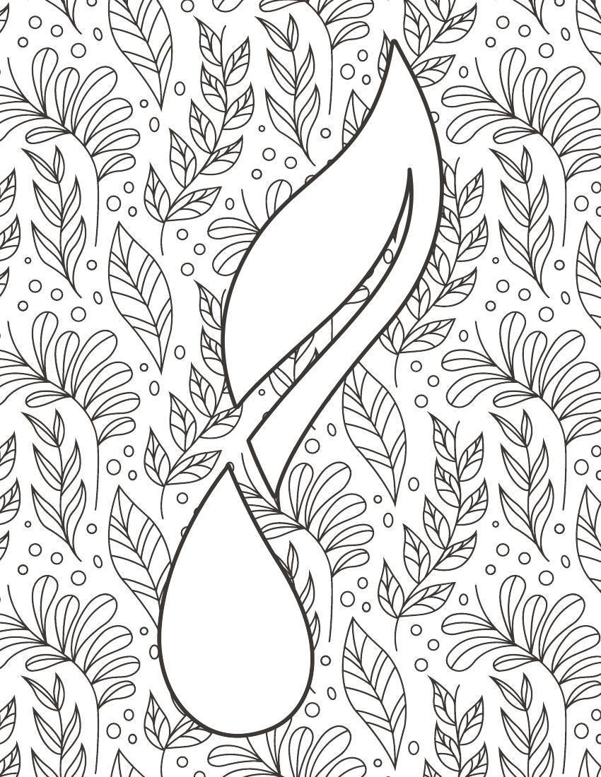 Advanced coloring page 2--Young Living Essential Oils Lavender Life Blog