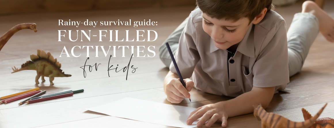 Rainy-day survival guide: Fun-filled activities for kids--Little boy coloring