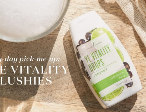 The perfect sunny-day pick-me-up: Homemade Vitality Drops slushies