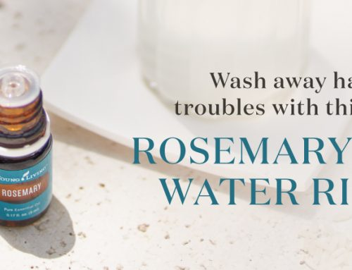 Wash away hair troubles with this DIY rosemary rice water rinse