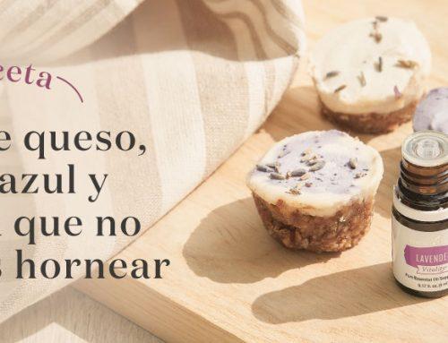 Receta: Tarta de queso, mora azul y Lavanda Vitality que no necesitas hornear