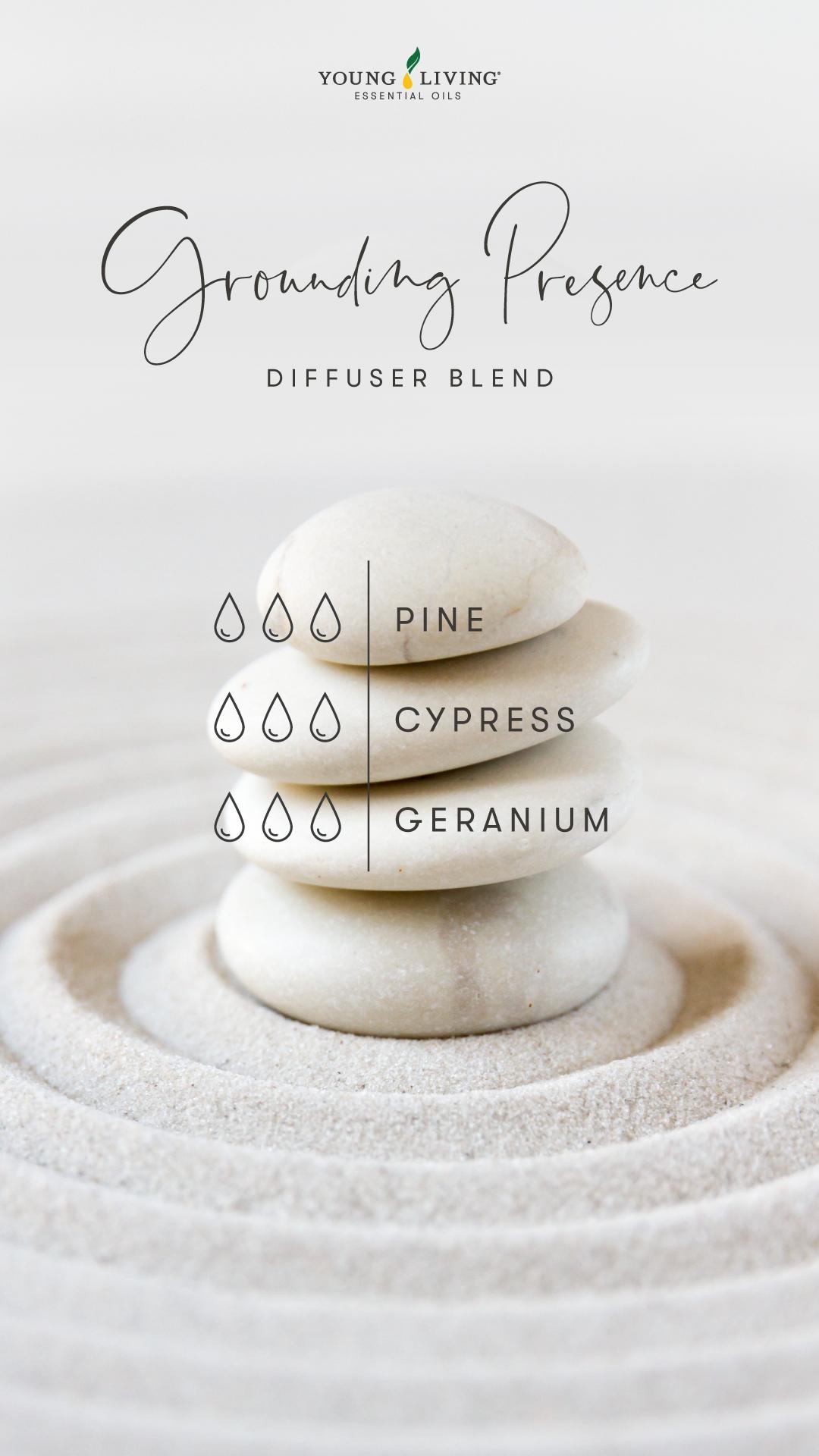 Grounding Presence Diffuser Blend - 3 drops Pine, 3 drops Cypress, 3 drops Geranium