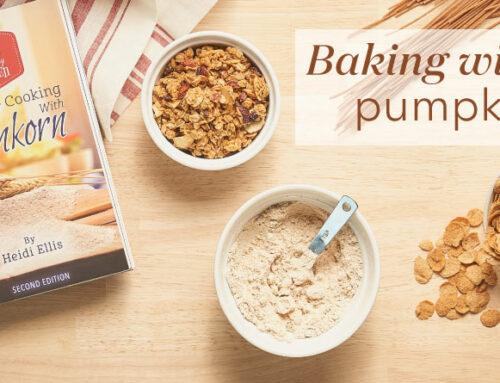Baking with einkorn: pumpkin cookies