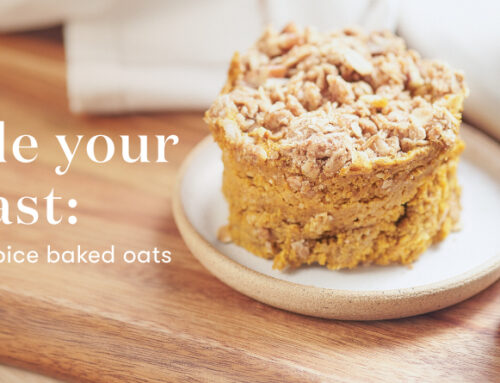 Upgrade your breakfast: Apple pumpkin spice baked oats