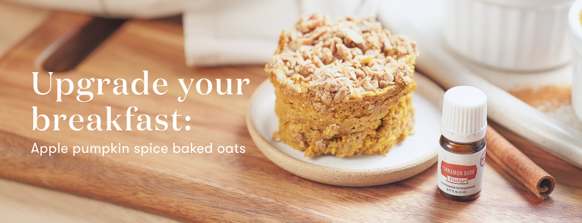 Upgrade your breakfast: Apple pumpkin spice baked oats - Young Living Lavender Life Blog