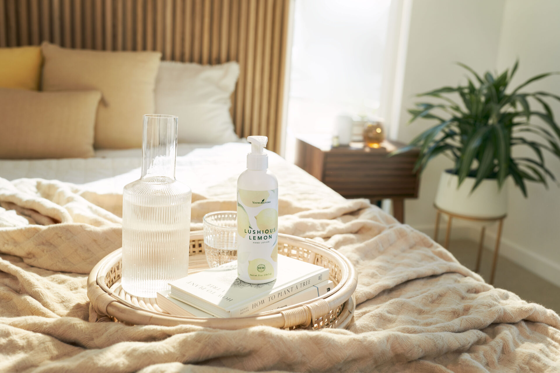 Lushious lemon in cozy bedroom - Young Living Lavender Life Blog