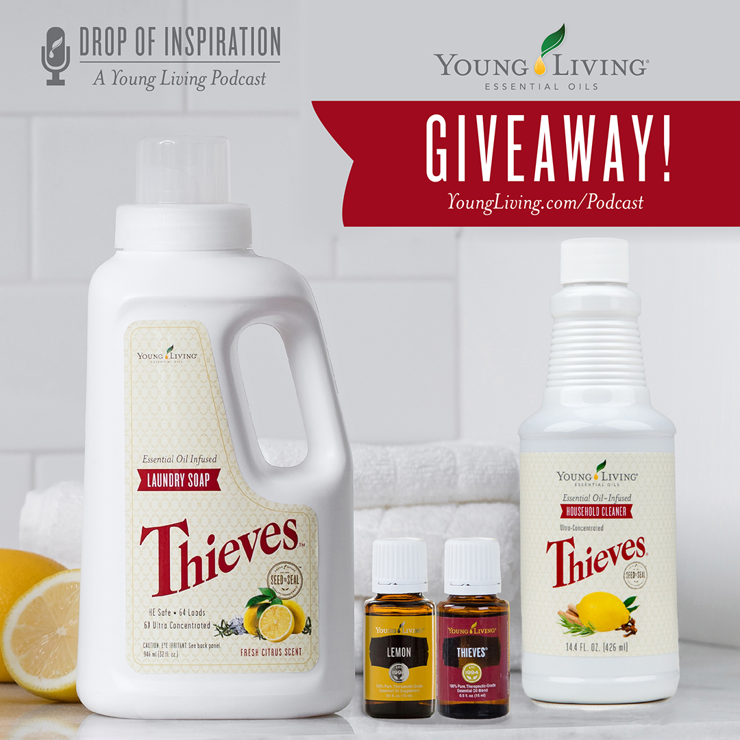 young living giveaway ep27 your healthy home and thieves cleaner start living 7390