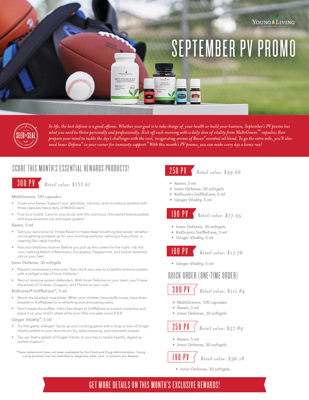 Essential Oils for Summer  July PV Promo   Young Living