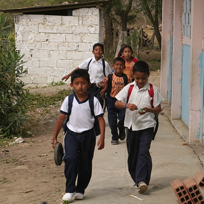 Helping children in need in Ecuador