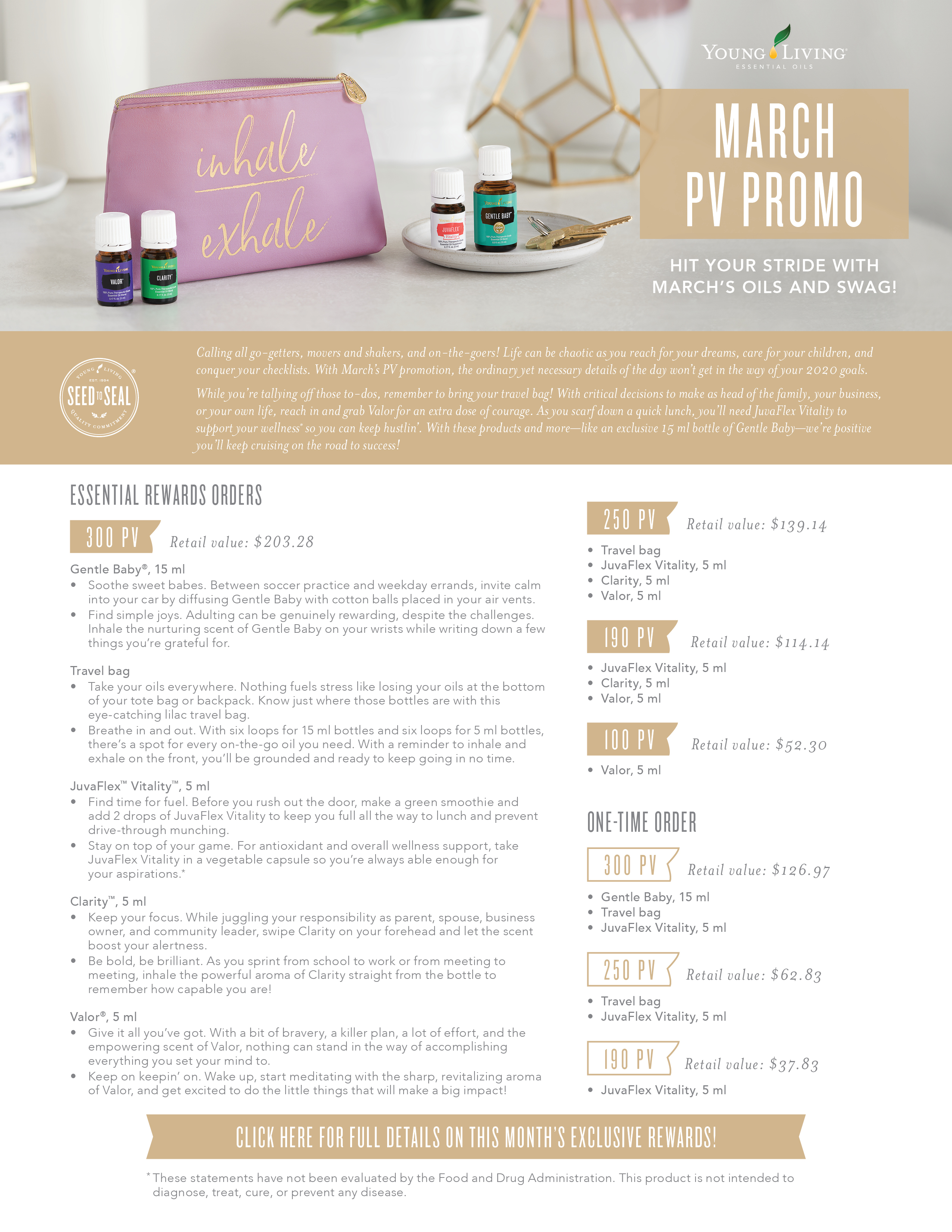 Young Living October 2019 PV Promotions